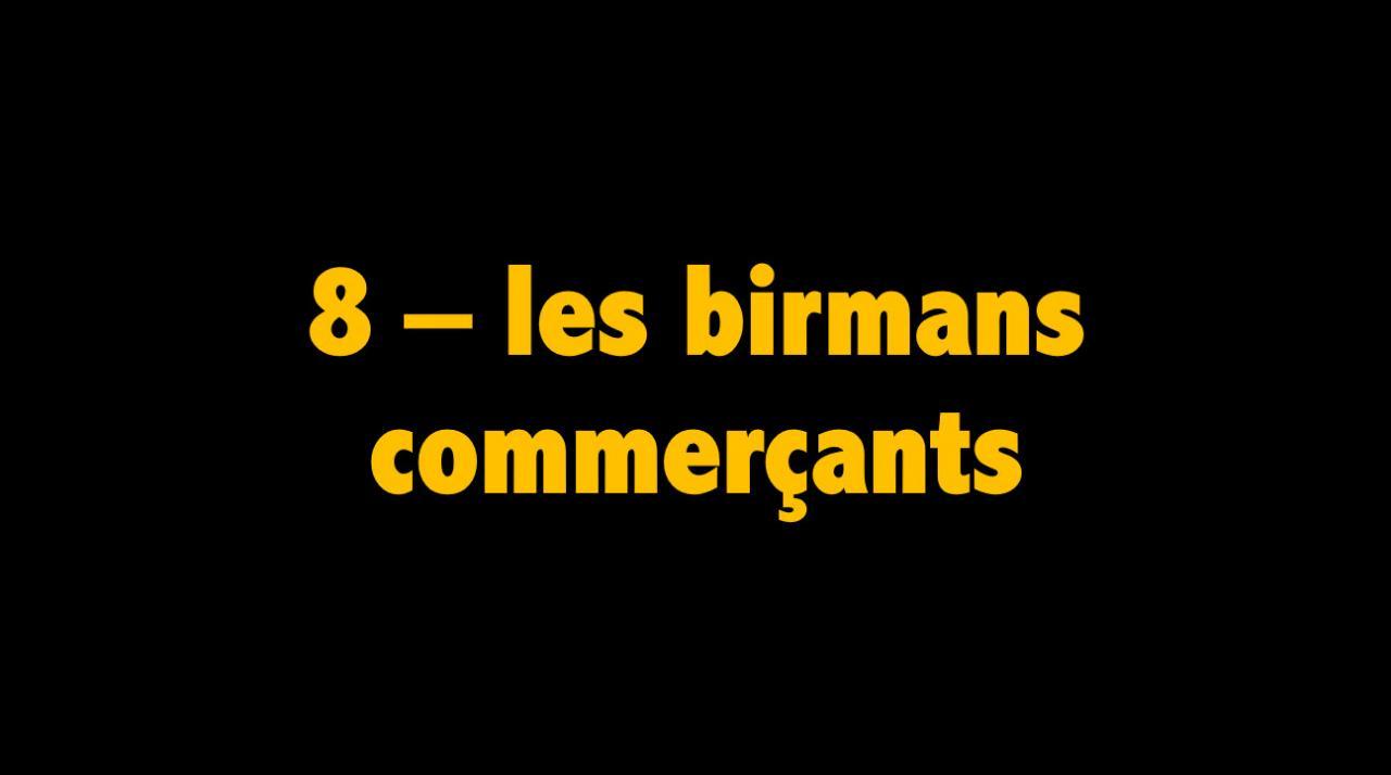 08 Les birmans commerçants