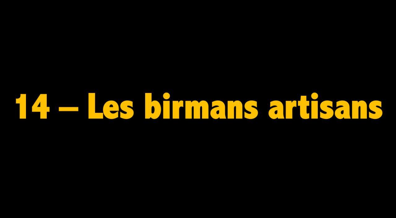 14 Les birmans artisans