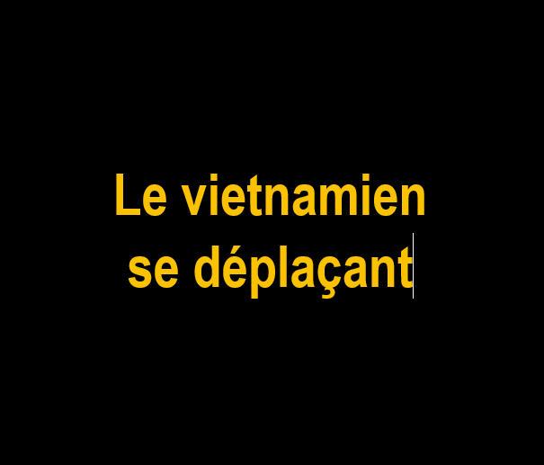 E Le vietnamien se déplaçant