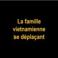I La famille vietnamienne se déplaçant