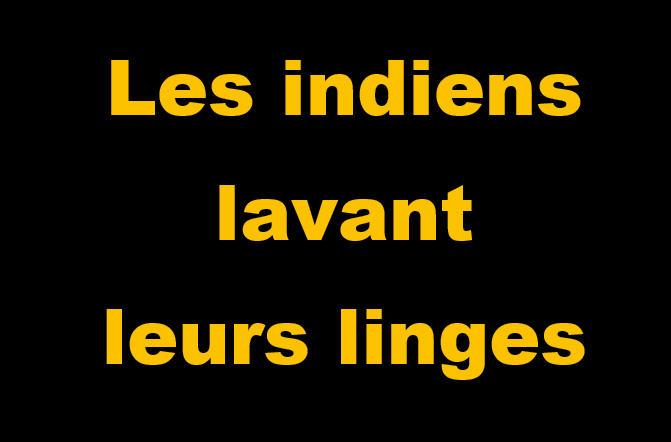 ____Les indiens lavant leurs linges