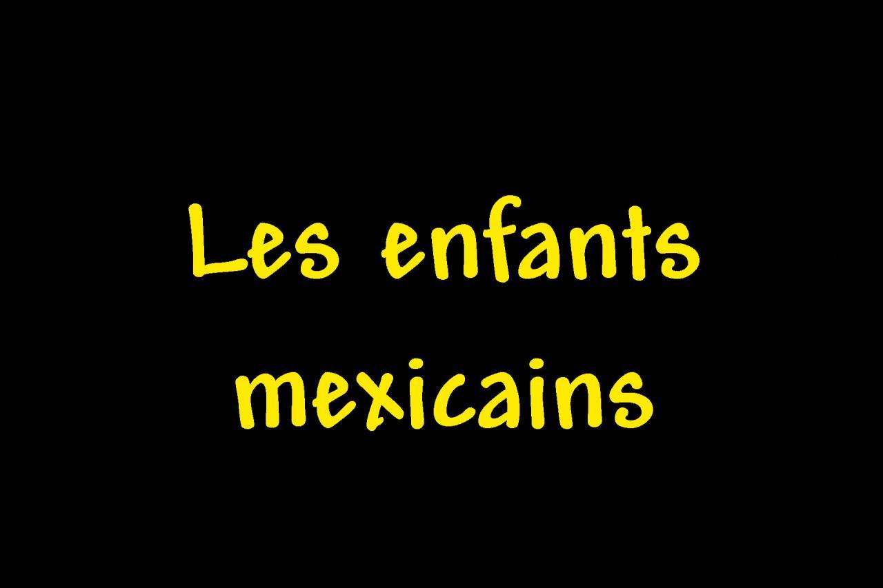 _Les mexicains enfants page intercalaire vierge